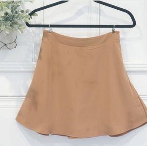 Tobi Tan Taupe Mini Flare Skater Skirt